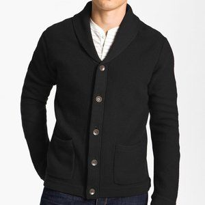 Rag & Bone Avery Black Button Front Mens Sweater